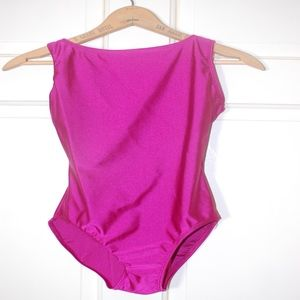 Pink Bal Togs Boat Neck Dance Gymnast Leotard
